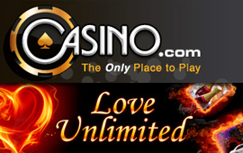 Valentines promotion running at Casino.com