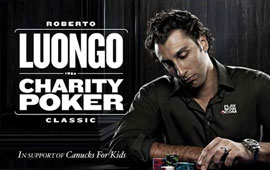 Luongo Shines in Charity Poker Tournament